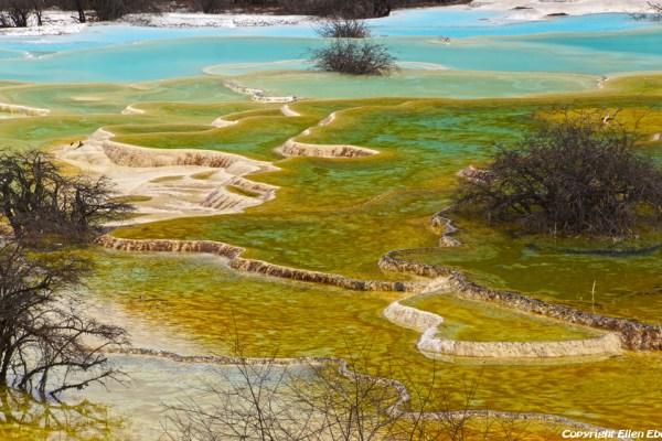 Huanglong National Park: Multi Coloured Pond