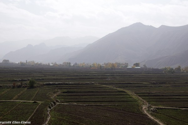 Landscape near Rebkong (Tongren)