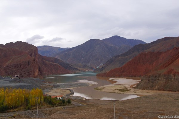 Landscape on the way from Rebkong to Xining