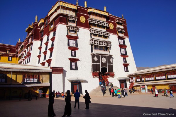 Lhasa, the courtyard Potala Palace