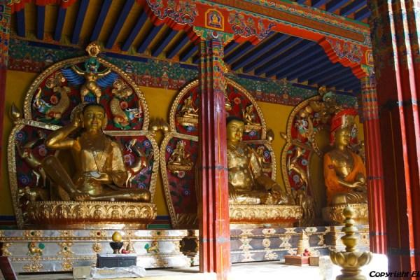 Inside the main assembly hall of Densatil Monastery
