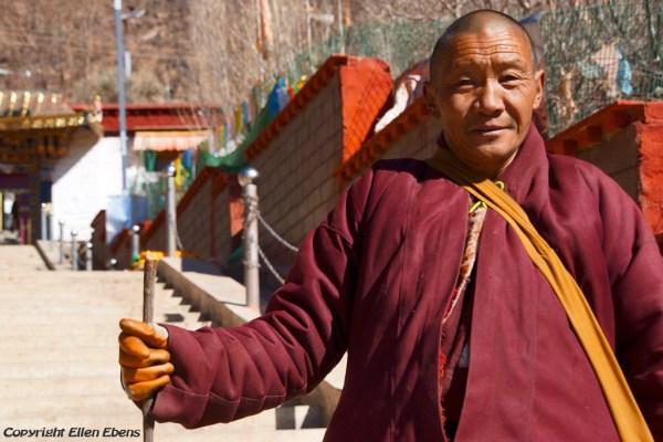Monk at Chimpuk Hermitage
