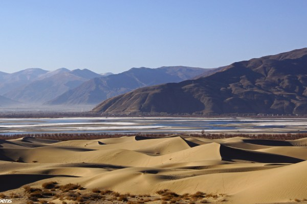 Sand dunes in the Yarlung Tsangpo Valley