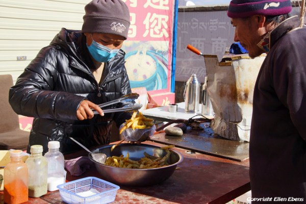 French fries as lunch in Tibet