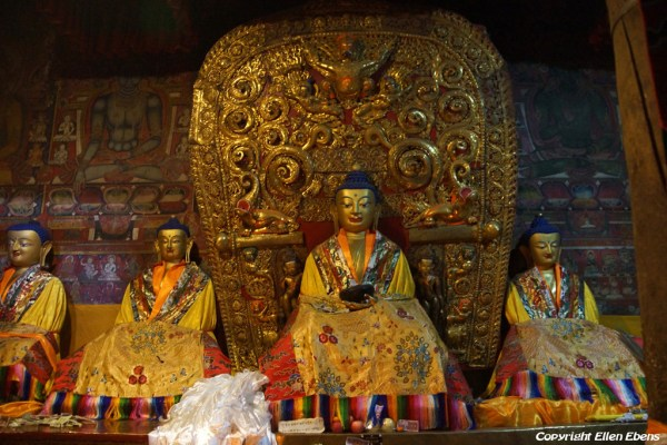 Statues at Shalu Monastery. Shalu is famous for it's murals dating back to the 14th century and they survived the destruction of the cultural revolution