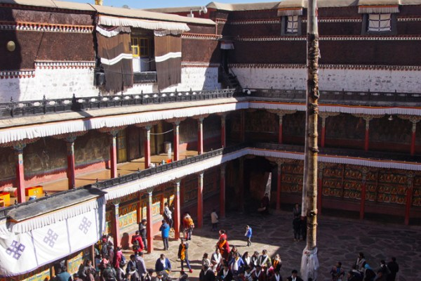 Pilgrims at Tashilhunpo Monastery in the city of Shigatse