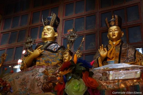 Statue of the 16th Karmapa at the main assembly hall of Tsurphu Monastery