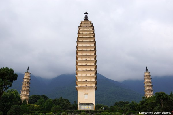 Dali: the three pagodas at the Chongsheng Temple