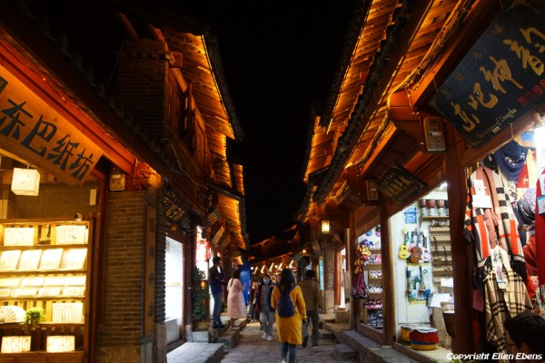 Evening in the ancient city of Lijiang