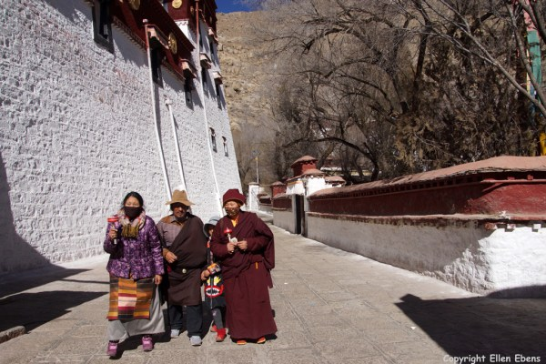 Pilgrims at Sera Monastery, Lhasa