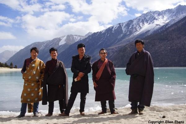 Posing at Ranwu Lake in eastern Tibet