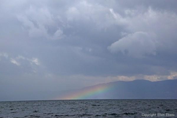 Rainbow over Fuxian Lake