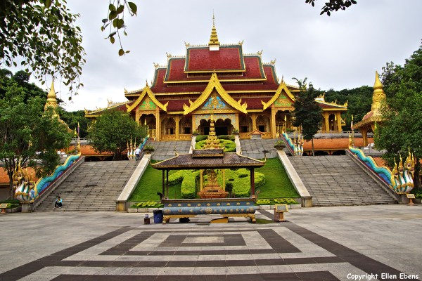 The Meng Le Temple complex near Jinghong