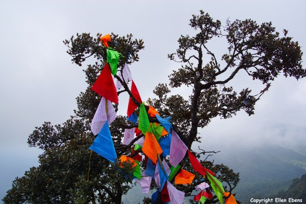 Jizu Shan (Jizu Mountain), Tibetan prayer flags