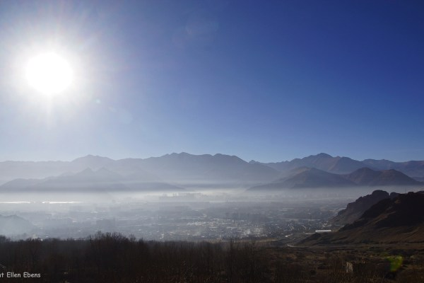 View on Lhasa from Drepung Monastery