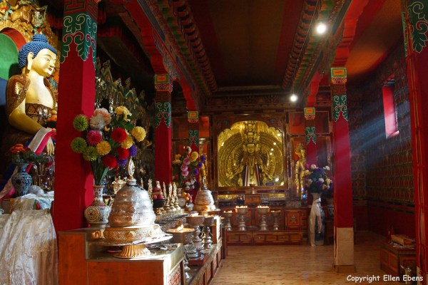 A chapel at Ganden Monastery.