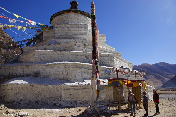 Stupa in the Lhasa river valley
