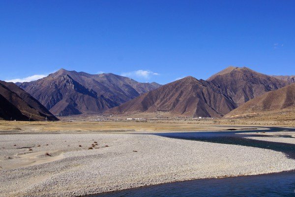 The Lhasa river valley