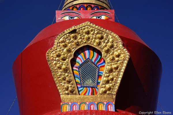 The red stupa at Samye Monastery