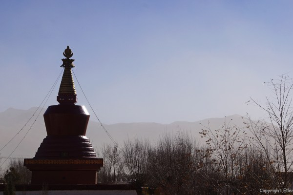 The red stupa of Samye Monastery