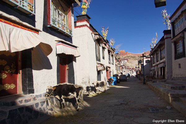 Street at the town of Gyantse