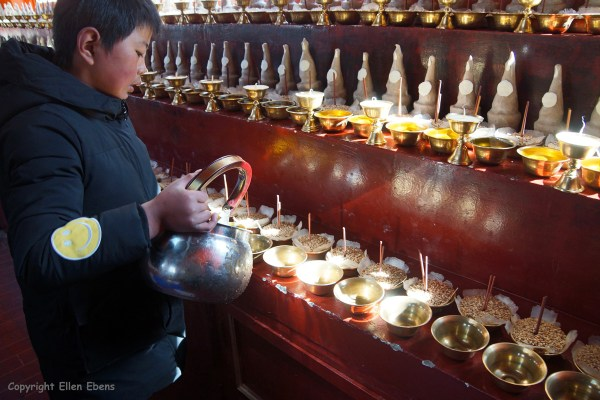 Preparations at Rabse Nunnery for the coming Tibetan New Year