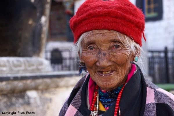 Lhasa, pilgrim on Barkhor Street