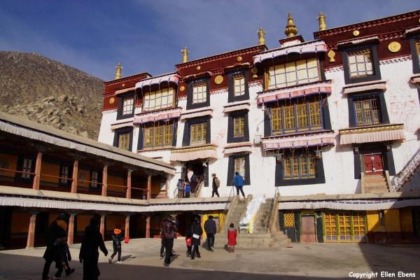 Pilgrims at Drepung Monastery, Lhasa