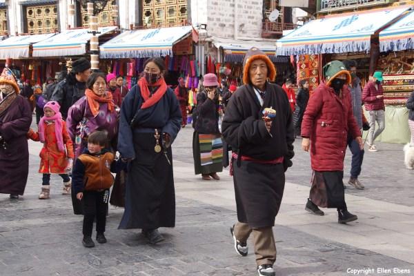 Pilgrims walking the Barkhor