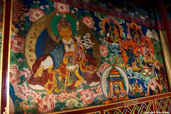 Wall painting inside the Tandruk Temple