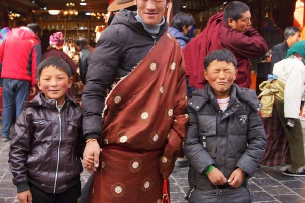 Pilgrims at the Barkhor, Lhasa