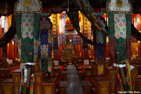 Inside Reting Monastery