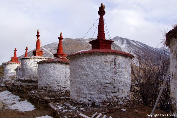 Stupas at Reting Monastery