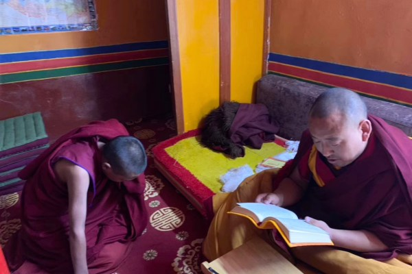 The high lama at Sera Monastery