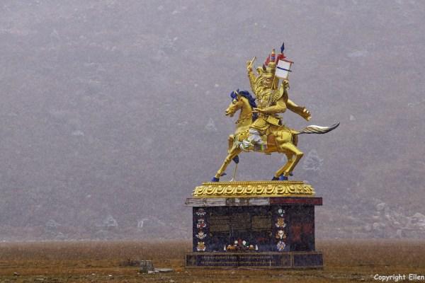 Dzogchen Monastery statue king Gesar Kham