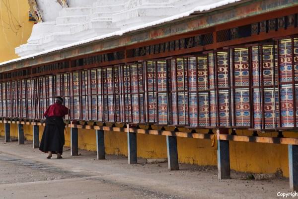 Nangchen prayer wheels