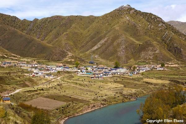 Nangchen Gaden Monastery village