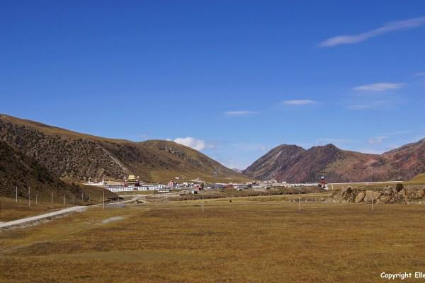 Nangchen landscape monastery