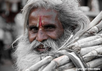 Man in a little village