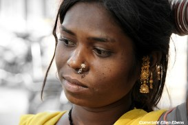 Young woman in the city of Satna