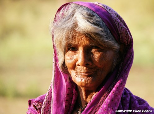 Old lady at Pachmarhi