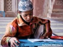 Boy at the Taj-ul-Masjid Mosque in Bhopal