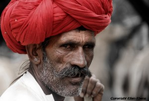 A semi-nomadic shepherd from Rajastan