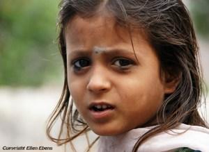 Girl in the holy city Omkareshwar