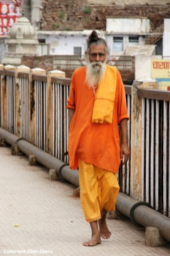 Sadhu in the holy city Omkareshwar