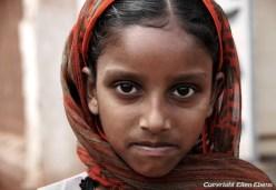 Girl in a little village