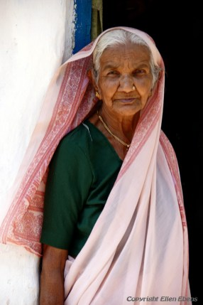 Old lady at the city of Bijapur