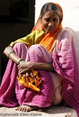 Woman at the village of Badami
