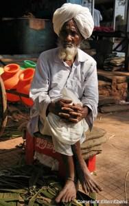 Old man at the village of Badami