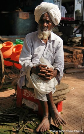 Old man at the village of Badami